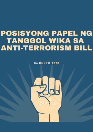 Dark Blue Raised Fist Human Rights Poster